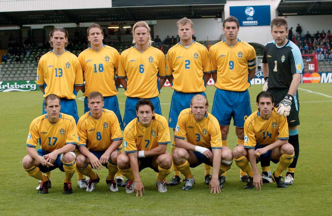 Stefanidis i U21-laget som kom fyra i EM 2004.