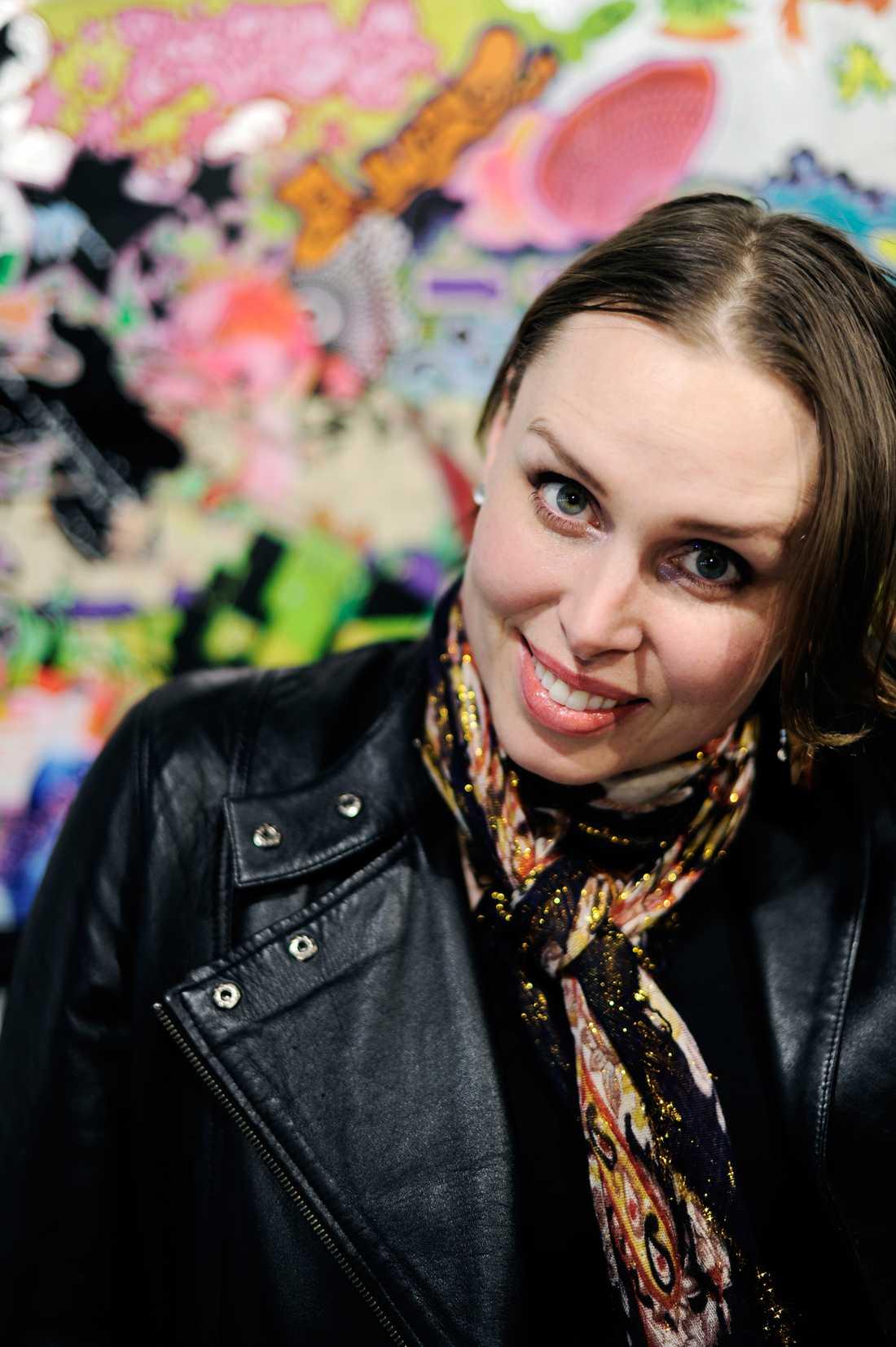 """Carolina Falkholt """"Blue"""", graffitikonstnär"""