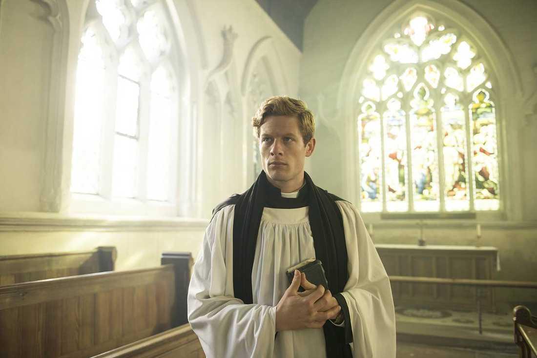 Stigande stjärna James Norton, här som präst/amatördetektiv, är någon att hålla koll på.