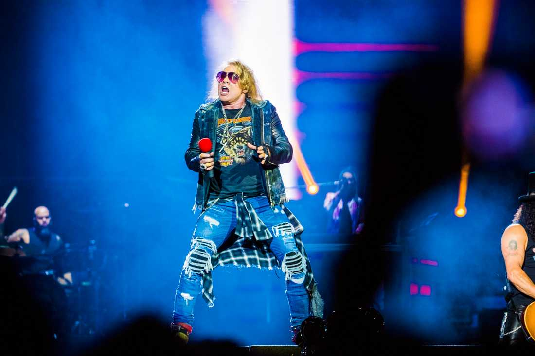 Guns N' Roses på Friends arena 2017.