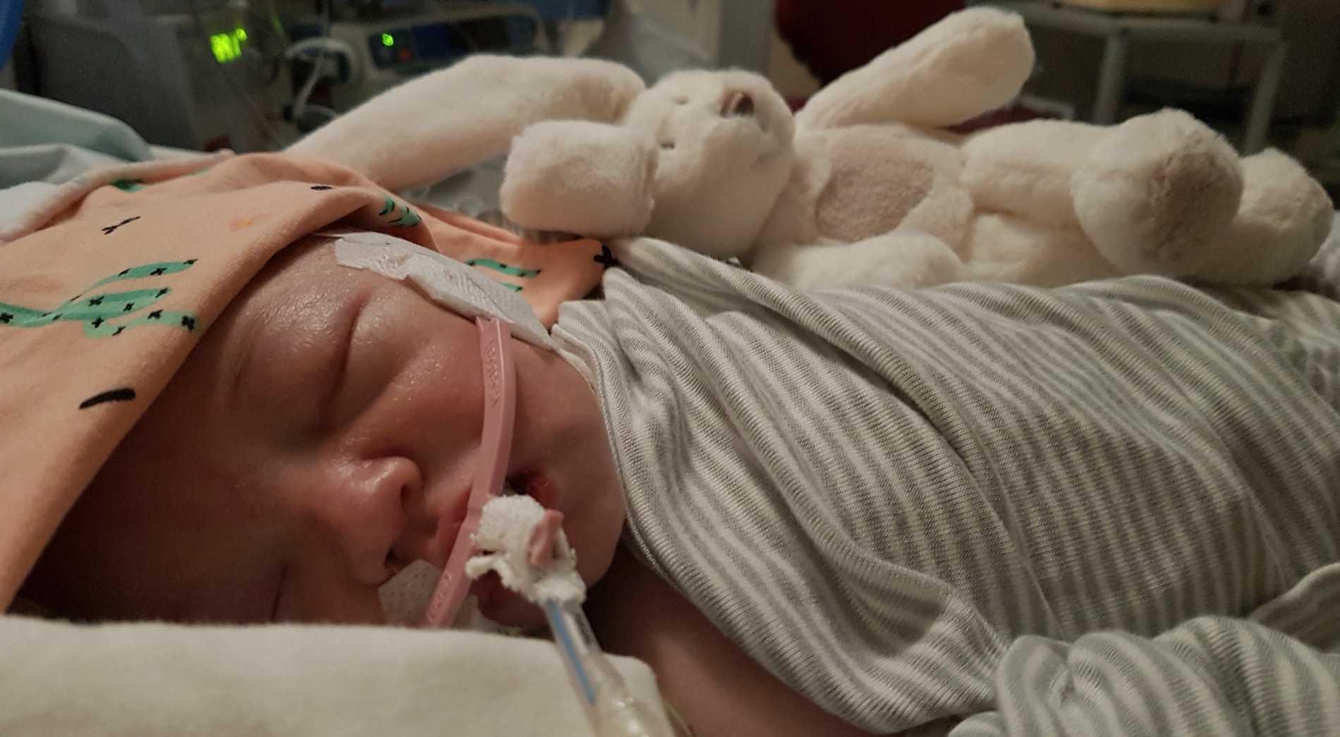 Henrys kropp kyldes ned efter förlossningen.