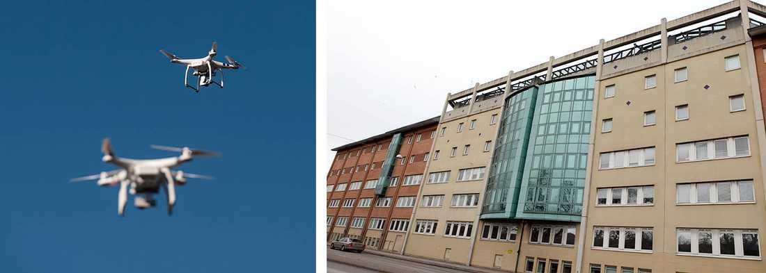 Häktet i Malmö avslöjar att man haft ovälkommet besök av drönare. Dock inte drönarna på bilden.