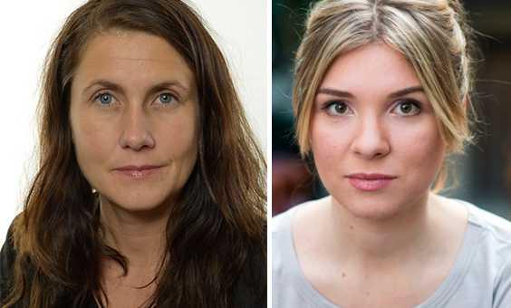 Janine Alm Ericson och Magda Rasmusson, MP.