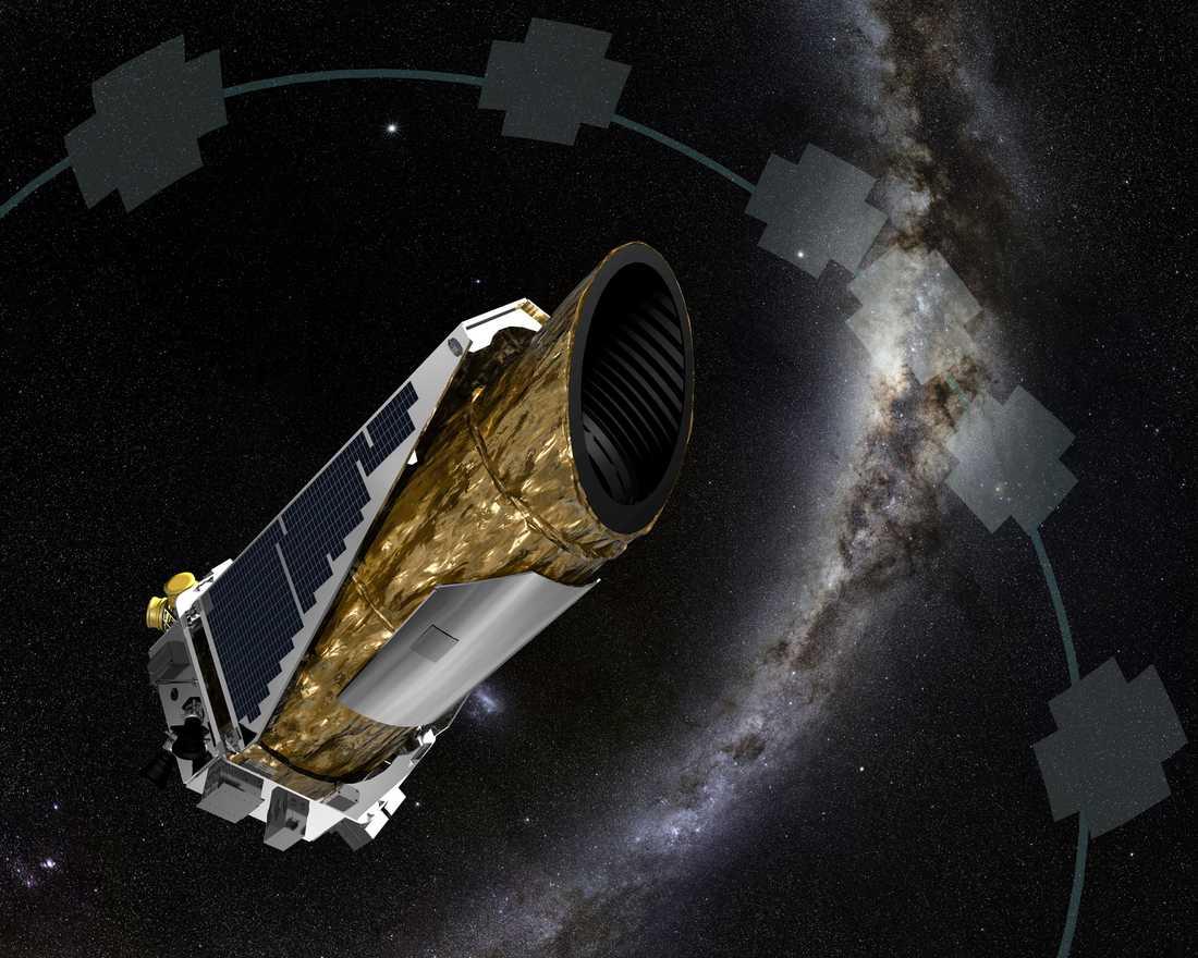 Konceptskiss av Keplerteleskopet.