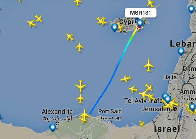 Kaparna tvingade planet att landa på Cypern.