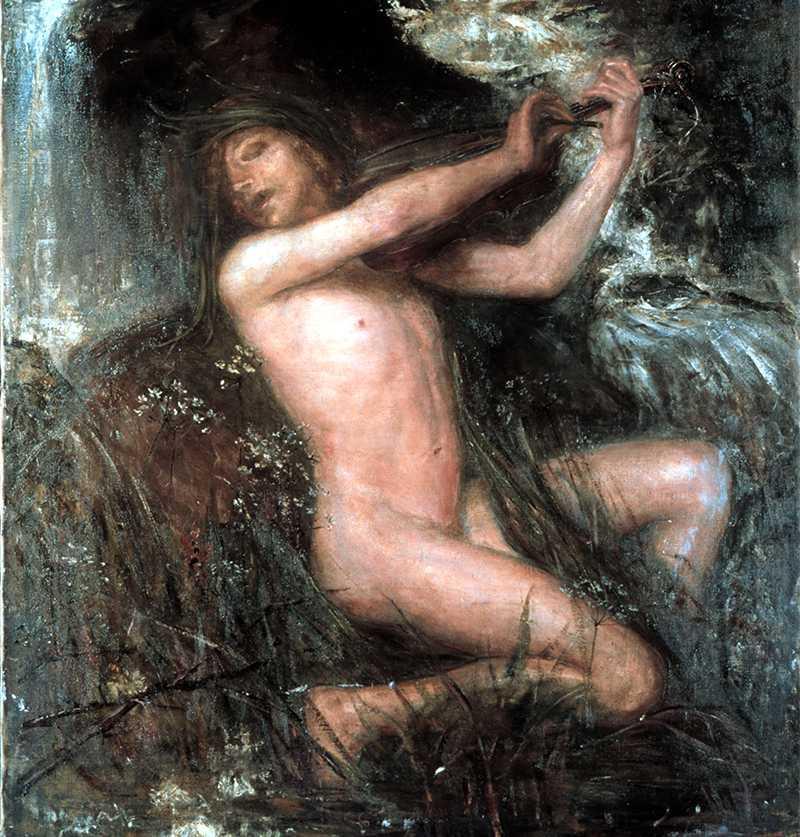 """Näcken"" av Ernst Josephson."