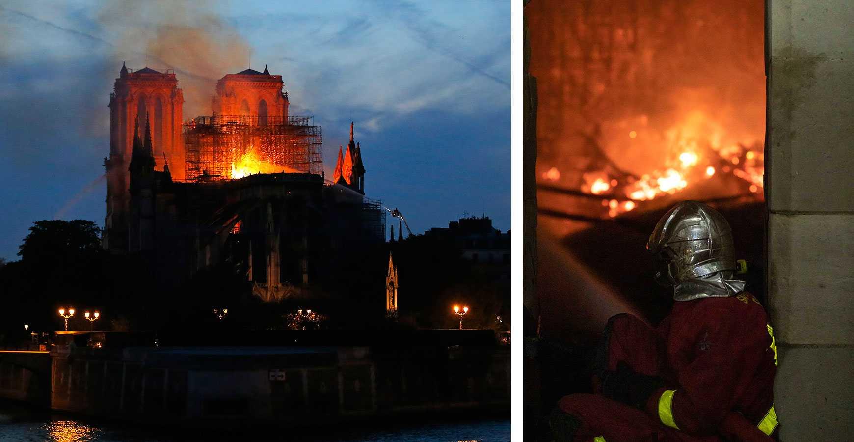 Brandmännen berättar om skräcken i Notre-Dame