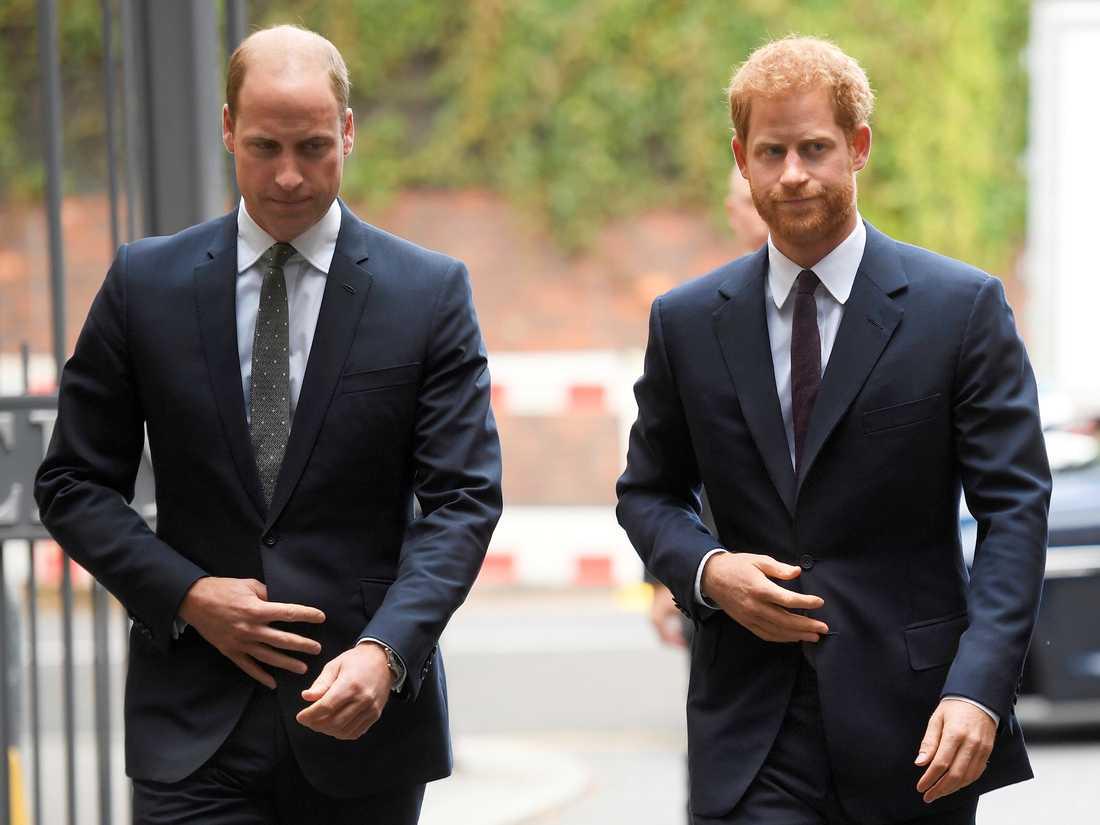 Prinsarna William och Harry har glidit ifrån varandra efter Harry och Meghans intervju med Oprah Winfrey. Arkivbild