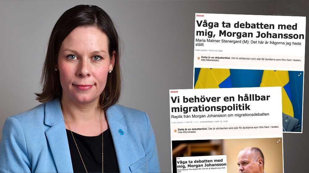 Moderaterna är villiga att återuppta förhandlingar om en bred överenskommelse i migrationsfrågan. Men det krävs då att S är beredda att släppa MP som bedriver en ohållbar invandringspolitik, skriver Maria Malmer Stenergard (M).