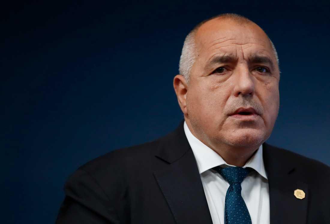 Bulgariens premiärminister Boyko Borissov kräver tre ministrars avgång efter massiva folkliga protester. Arkivbild.