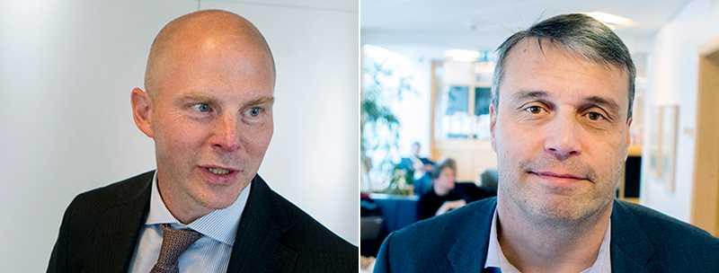Daniel Kindbergs advokat Olle Kullinger (till vänster) var nöjd efter slutpläderingen.