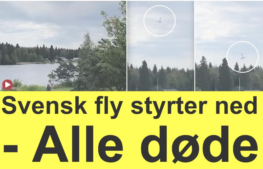 """Danska Ekstra Bladet: """"Svenskt flyg störtade – alla döda""""."""