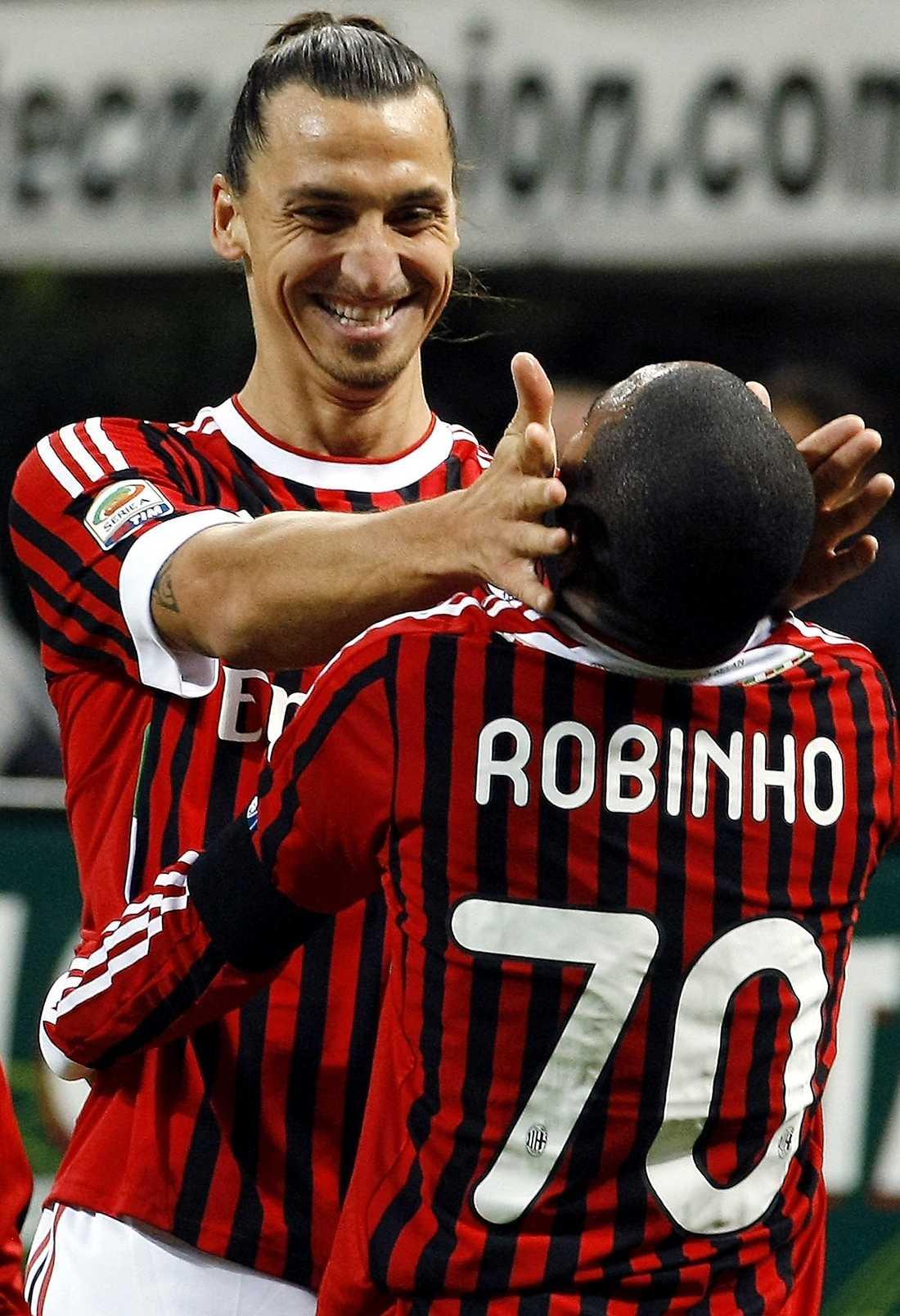 Zlatan Ibrahimovic och Robinho.