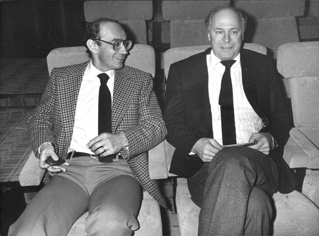 Moderatledaren Ulf Adelsohn och Lars Werner 1988