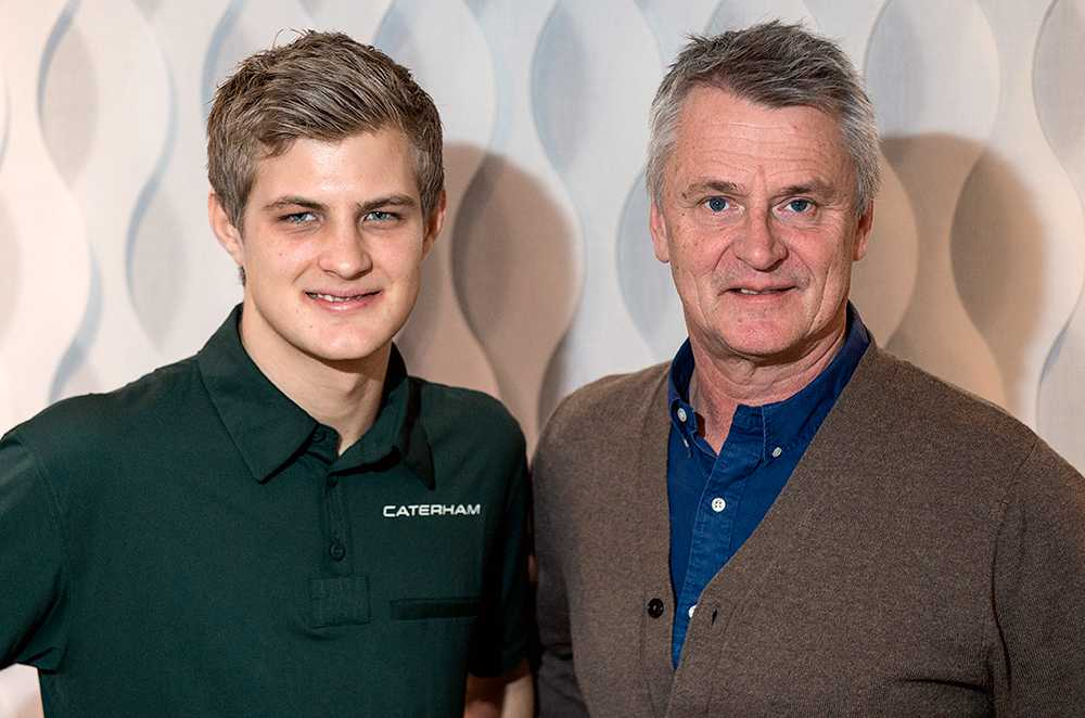 Marcus Ericsson och Eje Elgh.