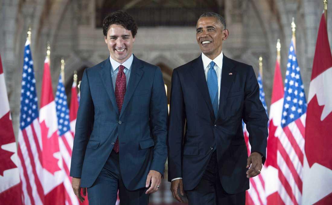 Justin Trudeau och Barack Obama i Ottawa, Kanada, 2016.