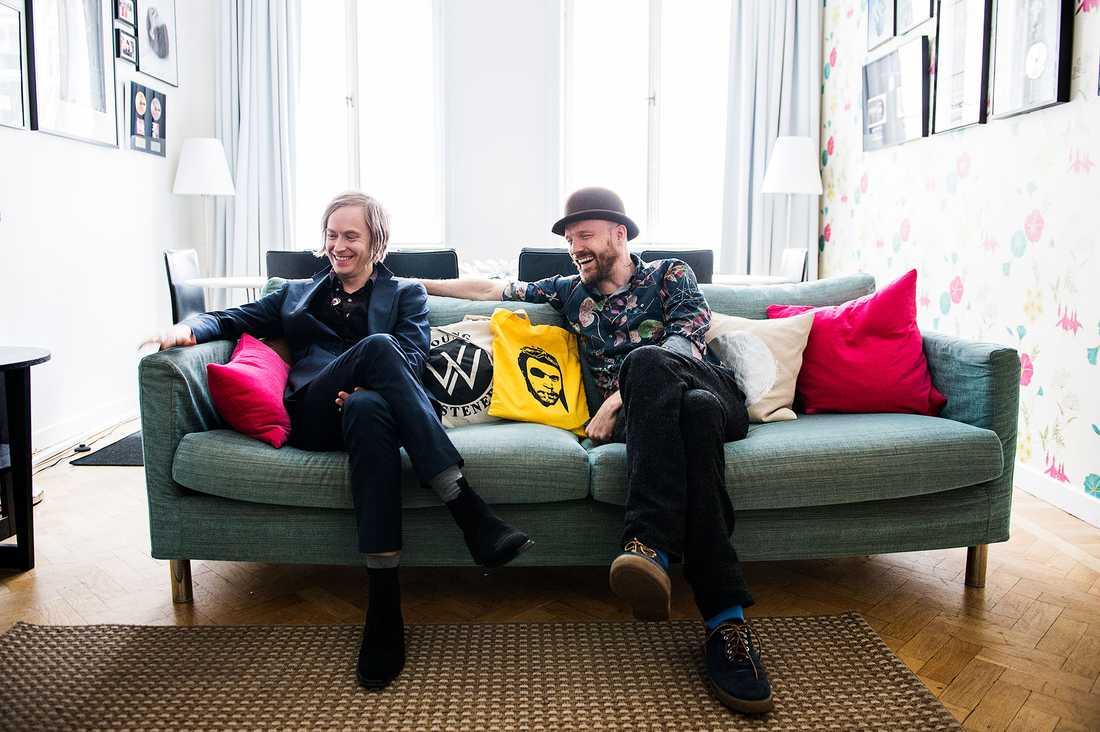 """Dennis Lyxén, sångare, och """"David Sandström, trummis, i Refused."""