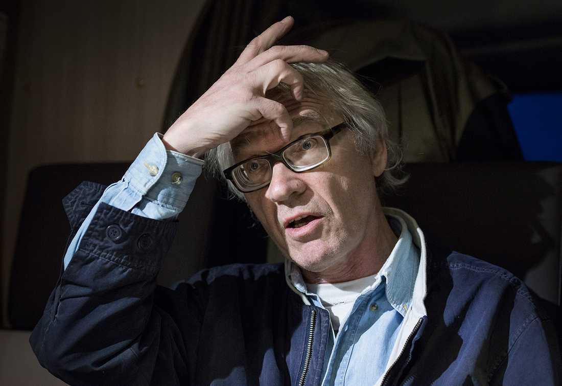 """""""Jag är hemlös. Jag kan aldrig komma tillbaka till mitt hus"""", säger Lars Vilks."""