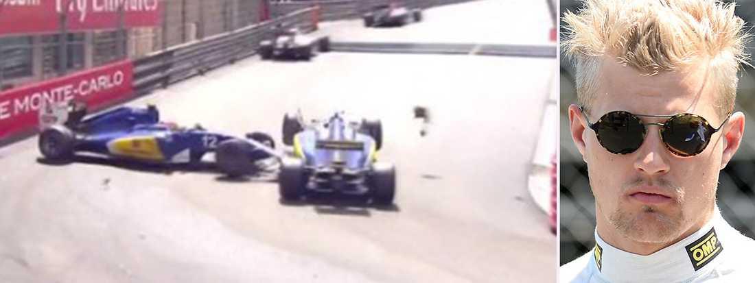 Ericsson fick order om att få köra förbi Nasr, men i Rascasse-kurvan slutade det med en kollision.