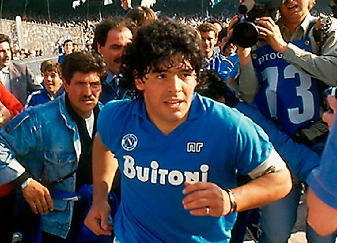 Maradona på 80-talet. Bild från Asif Kapadias film.