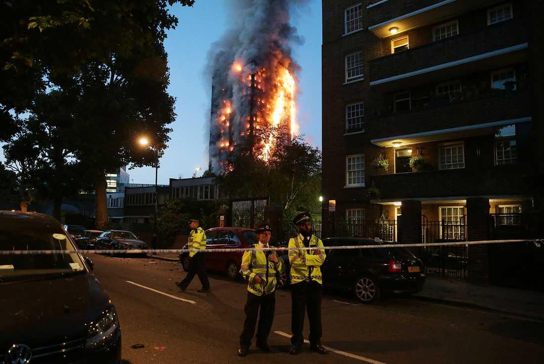 Branden i London.