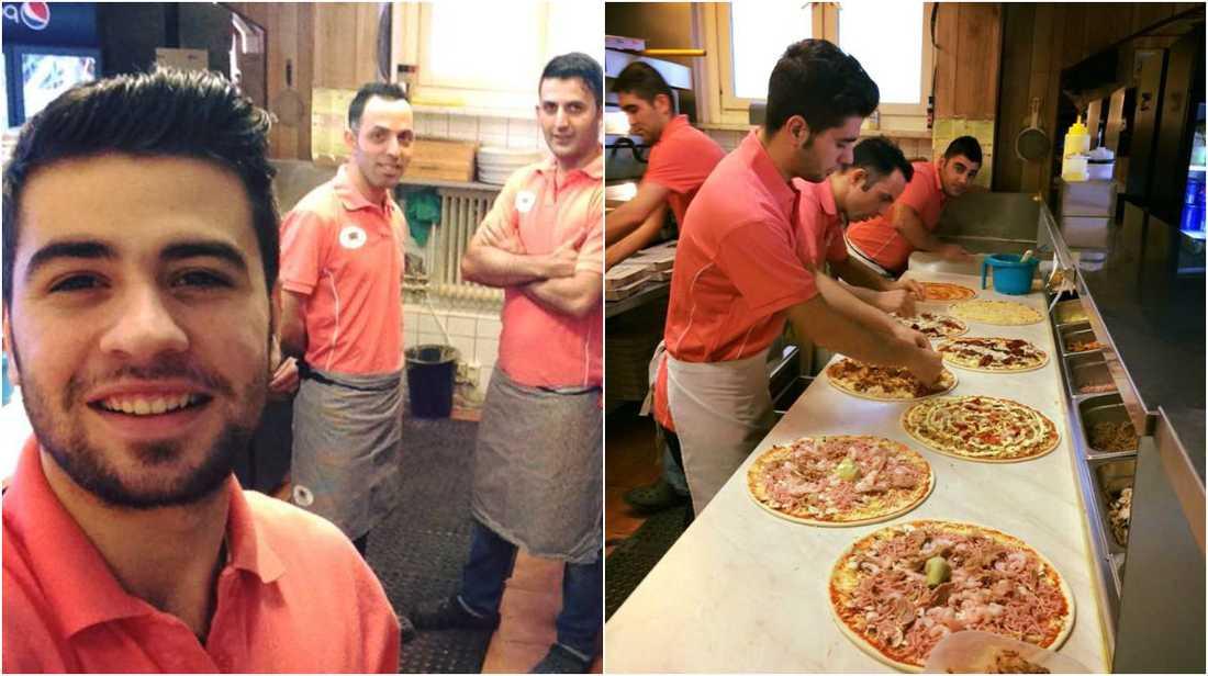 På alla hjärtans dag bjuder pizzerian på värme och mat.