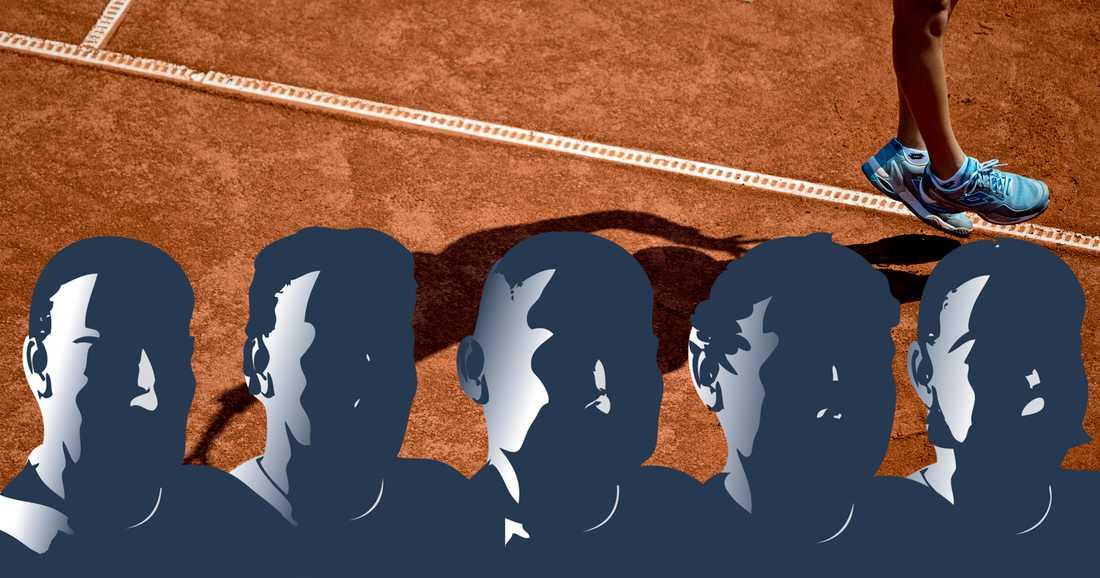 Fem personer har anhållits misstänkta för matchfixning inom tennis. Genrebild.