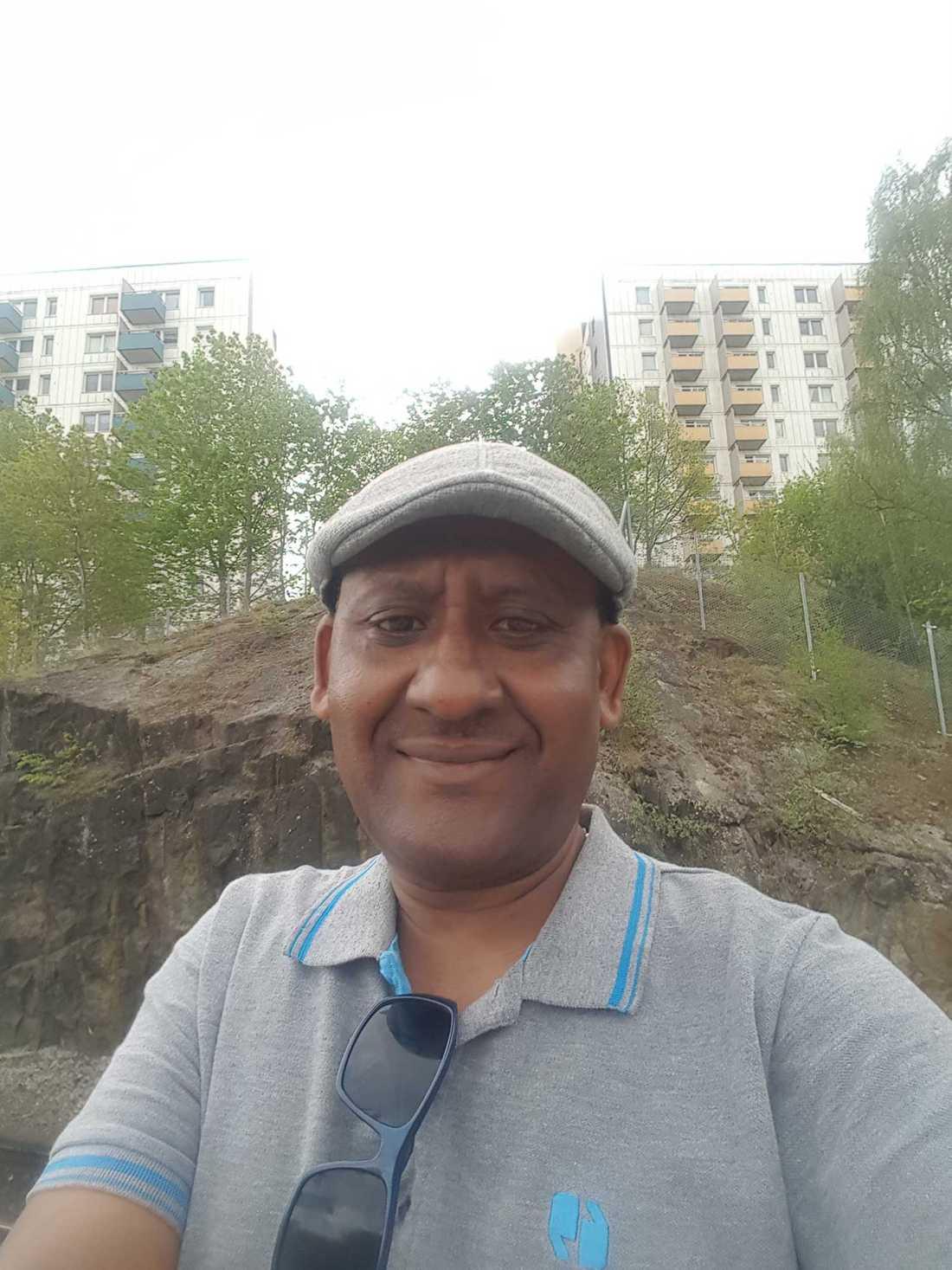 Solomon Halefom, ordförande för Birhu Tesfa.