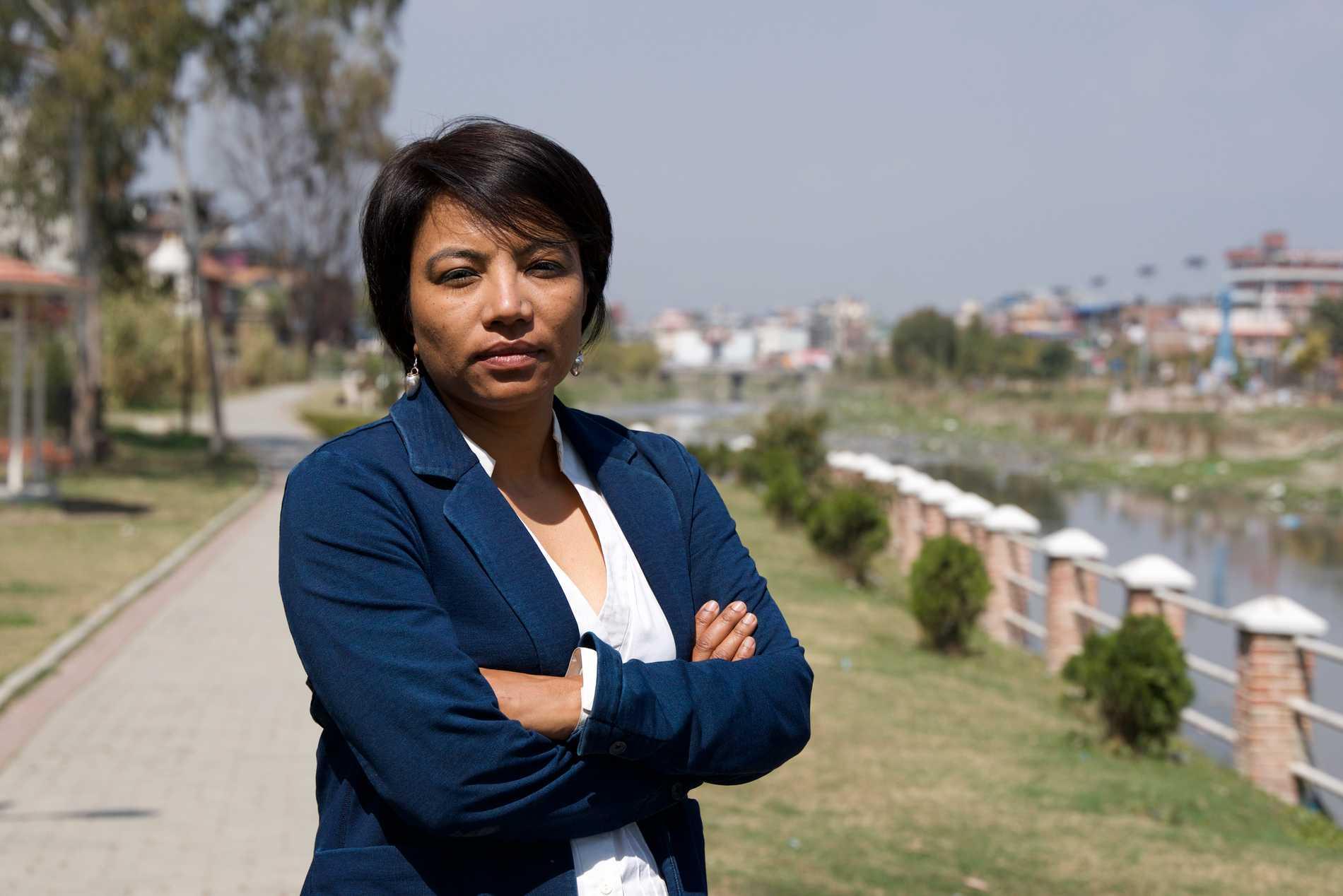 Subina Shrestha, nepalesisk journalist och dokumentärfilmare.
