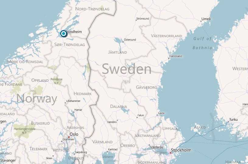 Drabbade Byneset ligger utanför Trondheim.