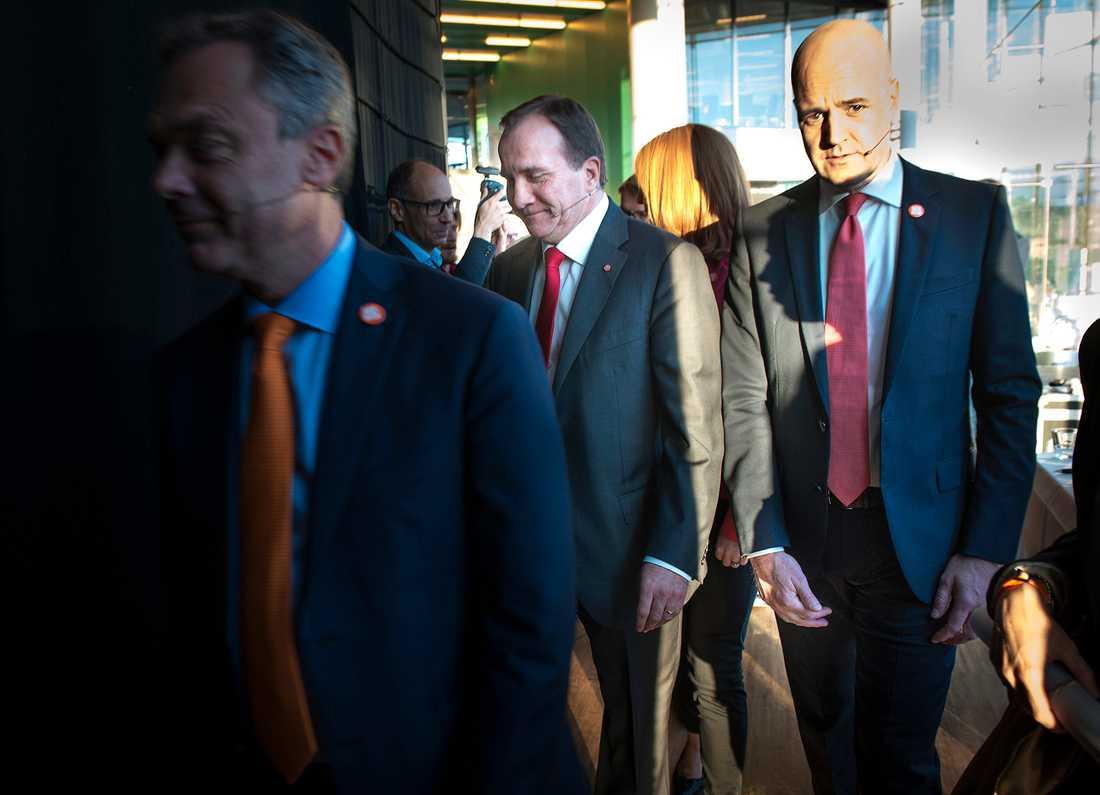 Statsministerkandidaterna Stefan Löfven (s) och Fredrik Reinfeldt (m).