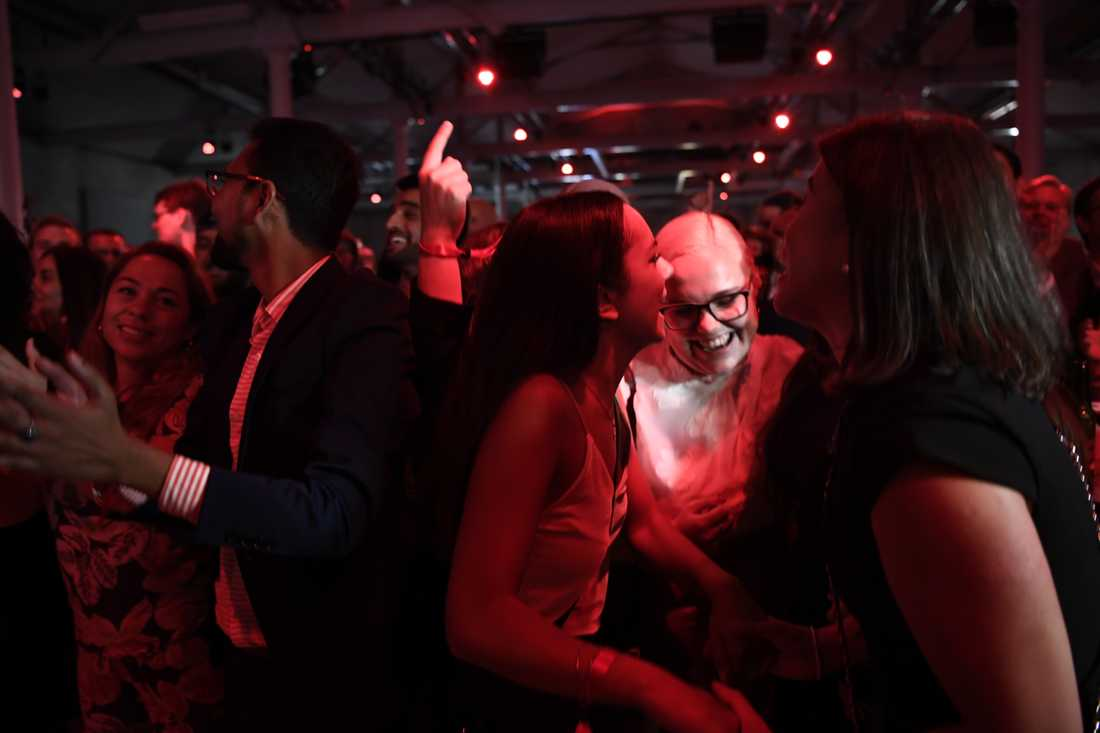 Dans på Socialdemokraternas valvaka.