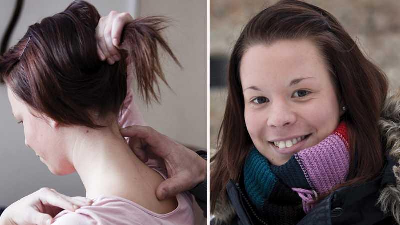 hade en whiplash-skada Jennifer de Wall, 18, led av konstant smärta i tre år efter en tackling på en ishockeyträning. Först efter att hennes föräldrar själva betalat, opererades hon i USA. I dag kan Jennifer gå i skolan och träna igen.