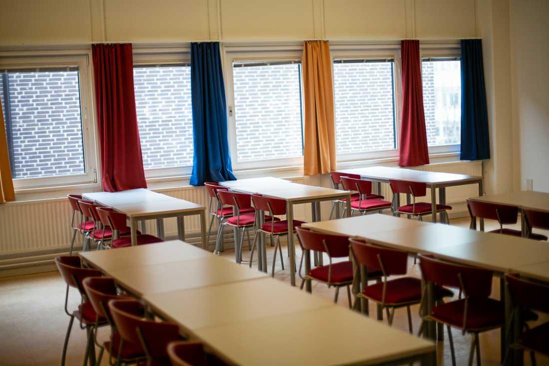 Skolor i södra delarna av Sundsvall har skickat hem elever efter ett omfattande strömavbrott. Arkivbild.