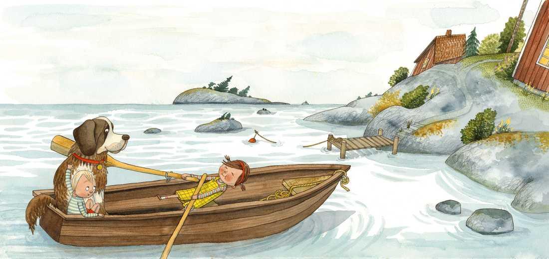 Bild från nya bilderboken om Saltkråkan.