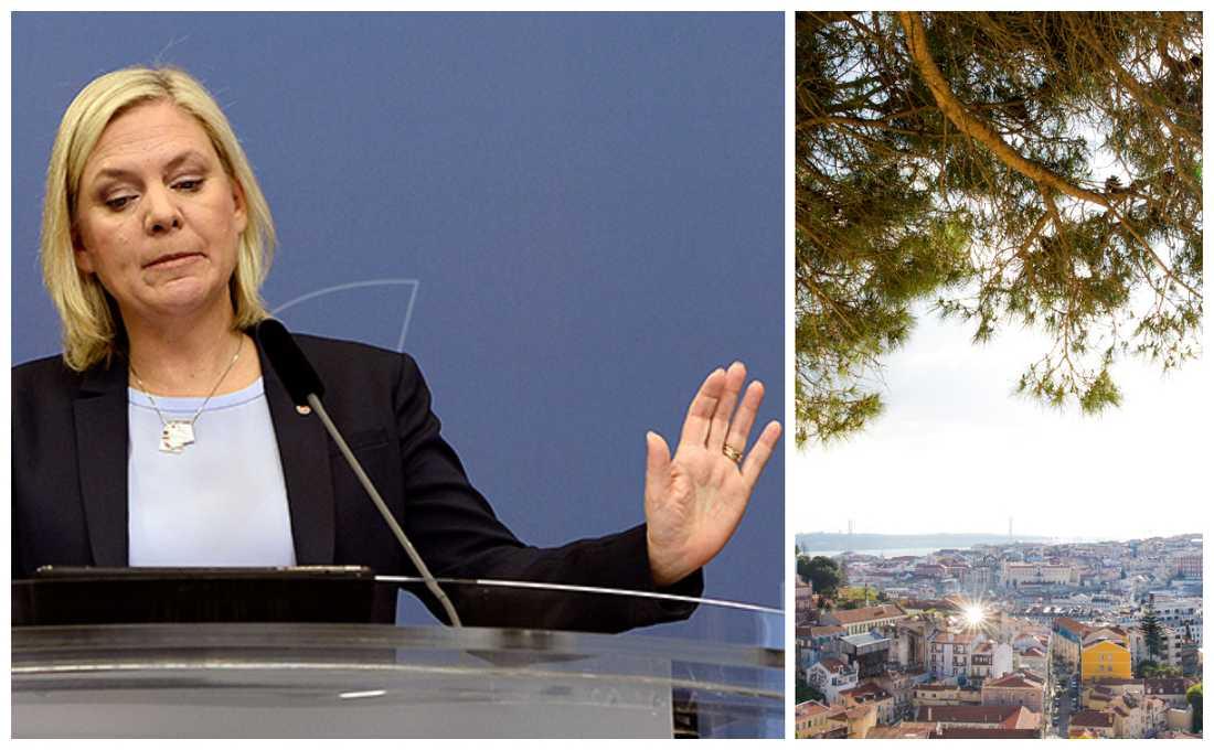 Finansminister Magdalena Andersson godtar inte Portugals kalla hand i skattefrågan.