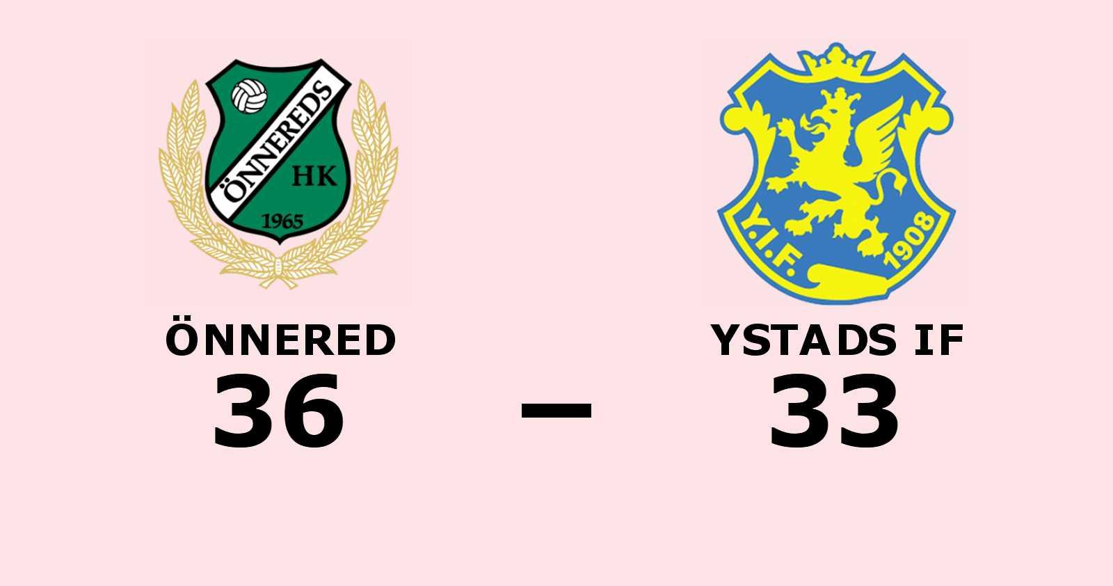 Efterlängtad seger för Önnered – bröt förlustsviten mot Ystads IF