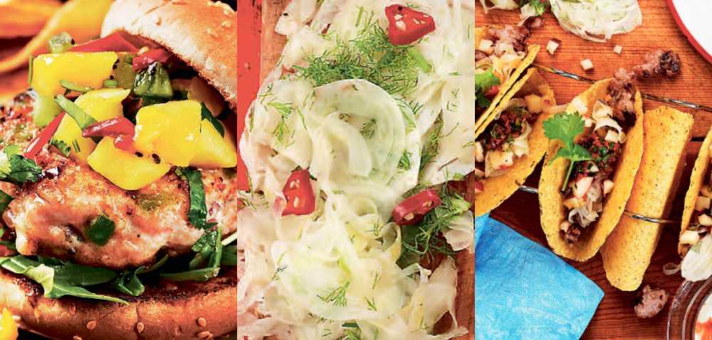 Salsa, picklad fänkål och chili.
