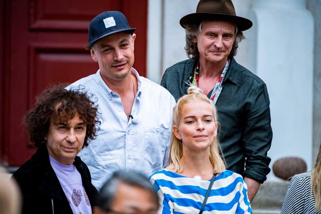 Magnus Uggla, Petter, Orup och Petra Marklund.