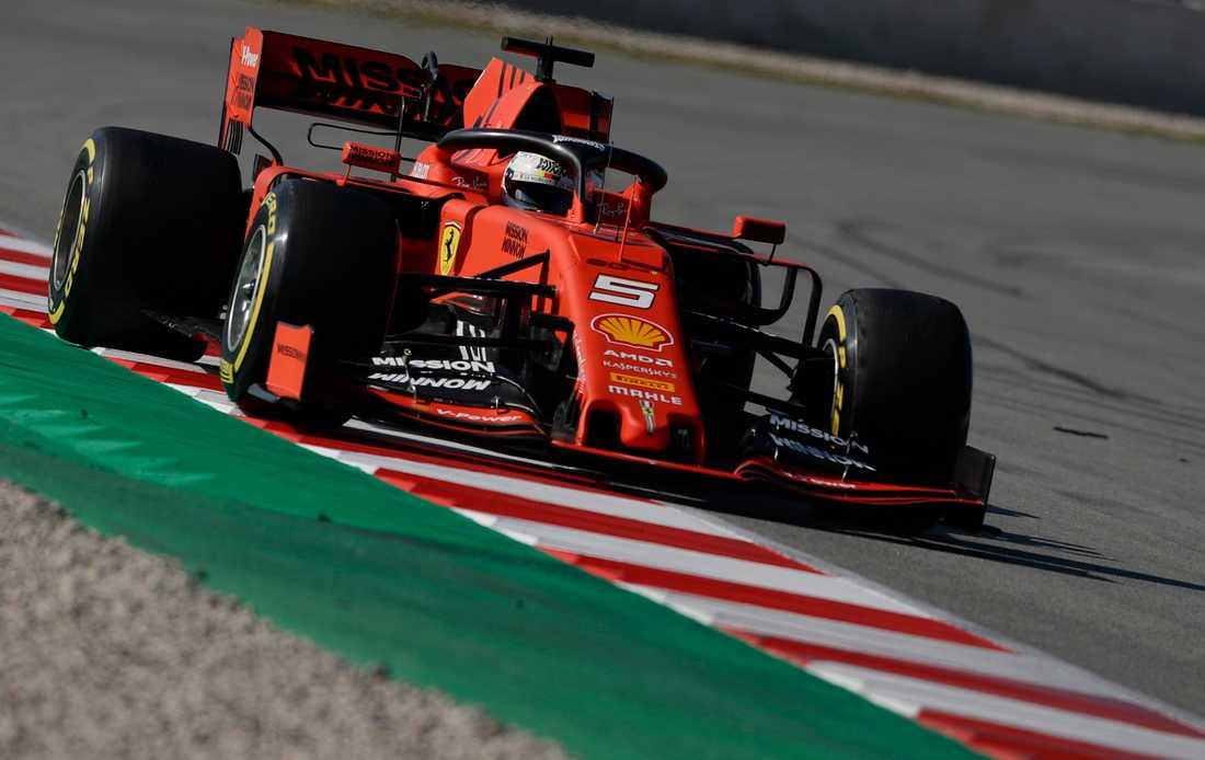 F1  2019 har startat och Ferrari inleder testerna i topp.