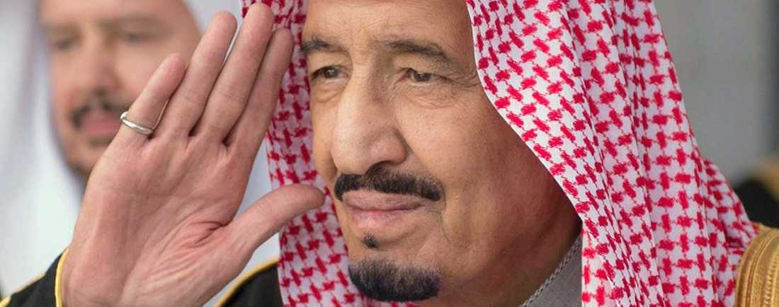Saudiarabien nya kung Salman på den tiden då han bara var prins och försvarsminister.