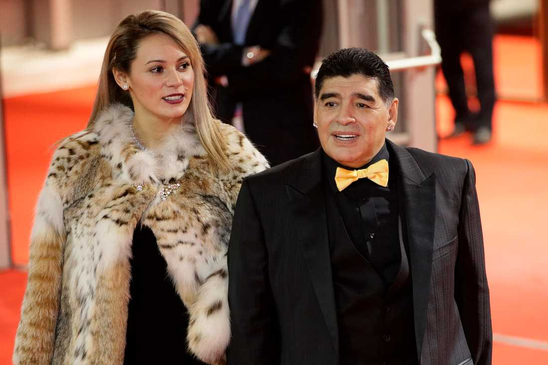 Maradona och ex-flickvännen Rocio Oliva