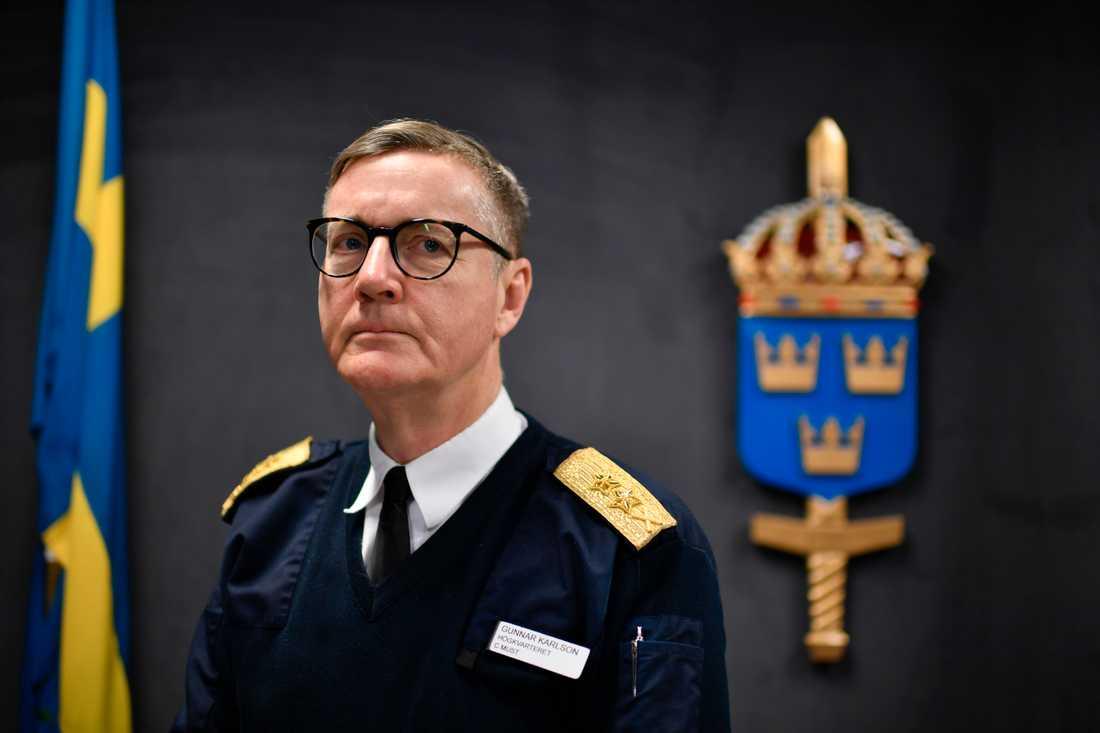 Gunnar Karlson, chef för militära underrättelse- och säkerhetstjänsten Must.
