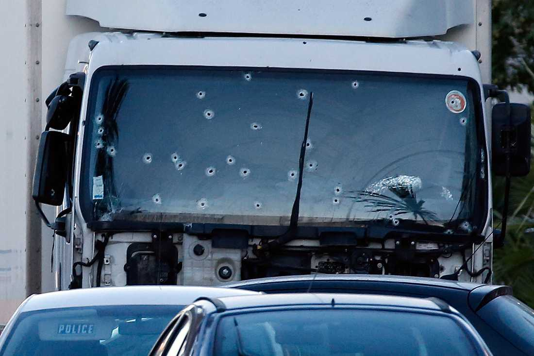 Kulhålen i lastbilen.