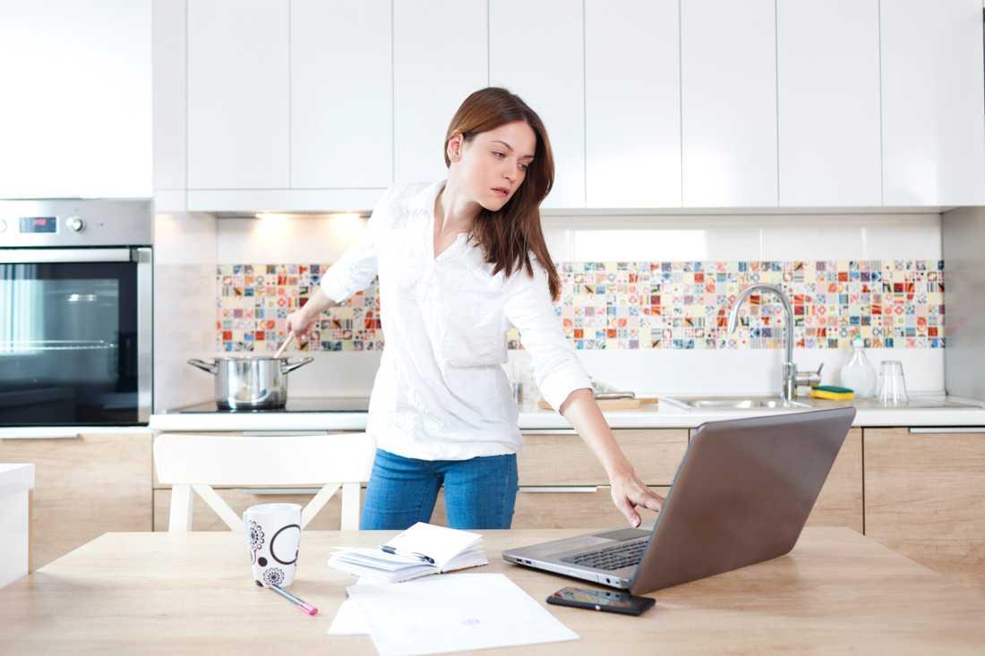 I framtiden spås fler människor arbeta hemifrån. Arkivbild.
