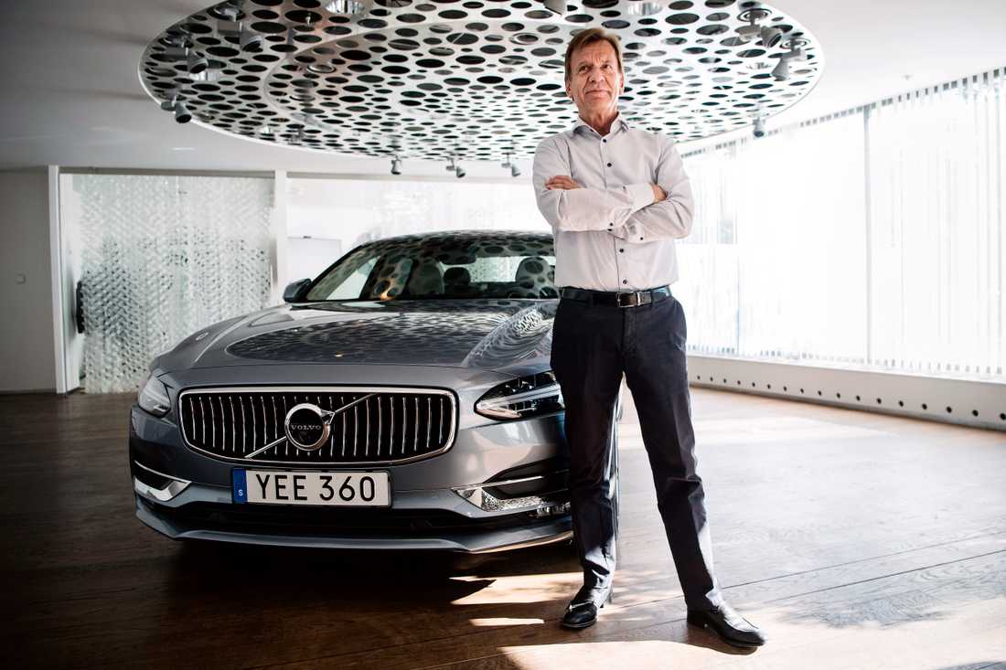 Volvo Cars vd Håkan Samuelsson är nöjd med dagens rapport där omsättningen för första halvåret nosade på 100 miljarder kronor.