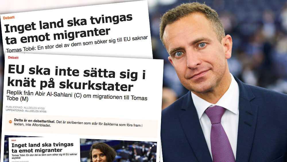 Resultaten av Centerpartiets inflytande på svensk invandringspolitik ser vi bland annat i den så kallade gymnasielagen. Lika orealistisk tycks nu tyvärr deras syn på invandringspolitiken på EU-nivå vara, skriver Tomas Tobé (M).