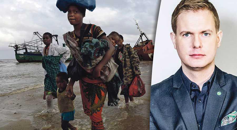 Det finns ingen större rättvisefråga i vår tid än klimatet, skriver Gustav Fridolin. På bilden drabbade efter cyklonen Idai i Mocambique.