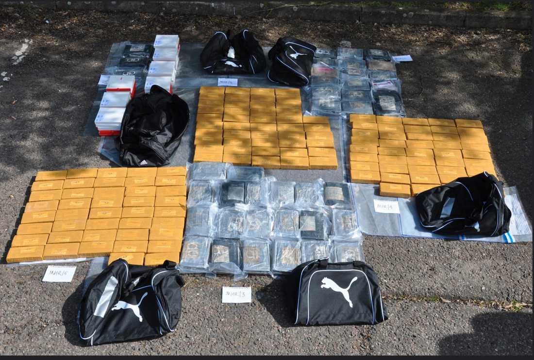 Totalt 160 kilo kokain ska ha levererats till skådespelarens stuga.