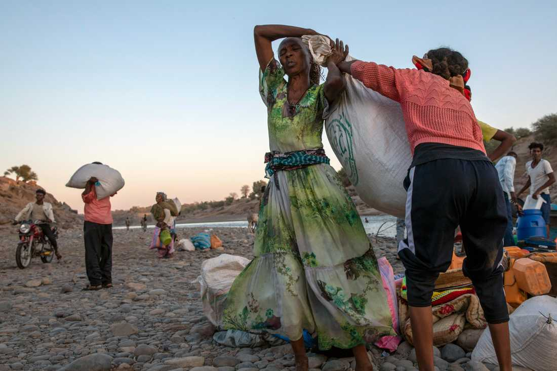 Flyktingar från Tigray i Etiopien har tagit sig till grannlandet Sudan.